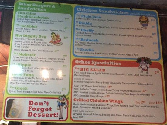 Charm City Burger Deerfield Beach Menu