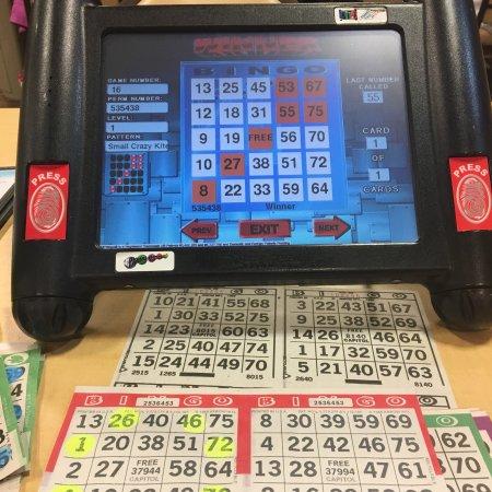 Kinder, LA: Bingo hall & computers