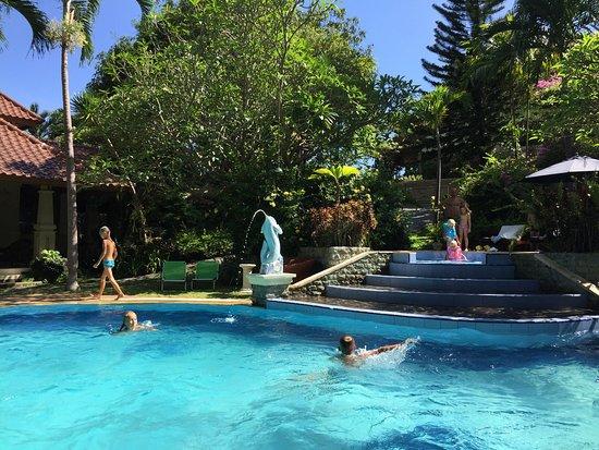 Rangdu, Indonésie : Gunung Paradis's large swimming pool with separate children's pool