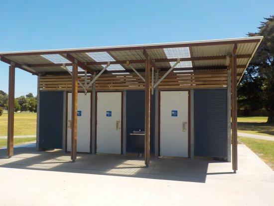 Apex park toilets