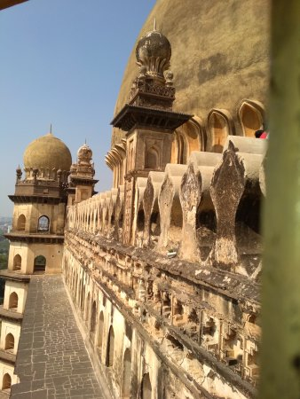 Picture from the stairs of gol gumbaz