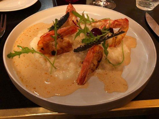Salle et cuisine ouverte photo de restaurant le w paris for Cuisine ouverte restaurant