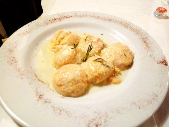 Osteria Le Panzanelle: Gnudi di zucca