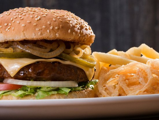 La Mercy, South Africa: spur cheese burger