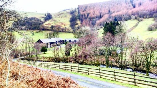 Builth Wells, UK: View from the road.