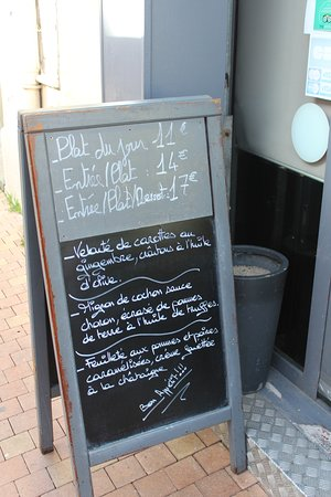 Menu Changes Every Day Picture Of A La Table Du Marche Narbonne