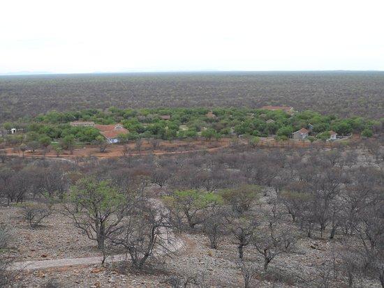 Khorixas, Namibia: View from platform towards hotel