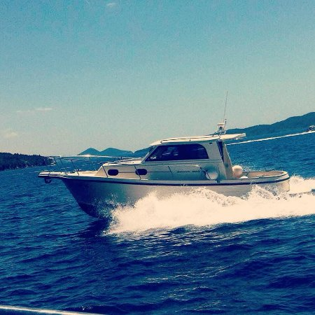 Sudurad, Croatia: Our Speedboat in Action