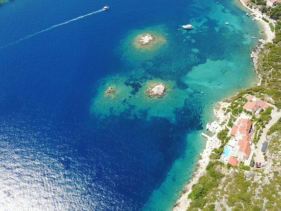 Sudurad, Croatia: Hotel Bozica - Aerial View