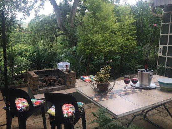 Sabie, جنوب أفريقيا: BBQ/Braai area , Apartment D