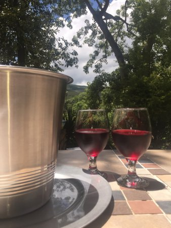 Sabie, South Africa: wine on a hot day