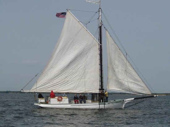 Oakdale, NY: Priscilla out on an early spring sail.....