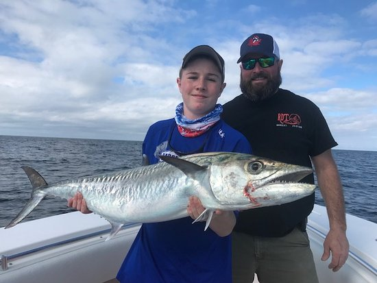 Fisheye Sportfishing Clearwater Fishing Charters: First Kingfish for this young angler!