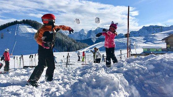 Oberaichwald, Österrike: Schneespaß