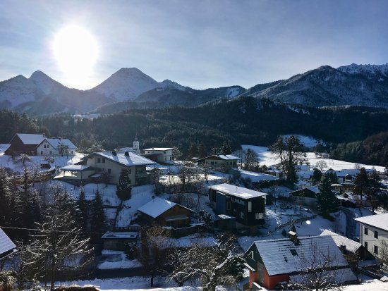 Oberaichwald, Österrike: Blick aus Appartement