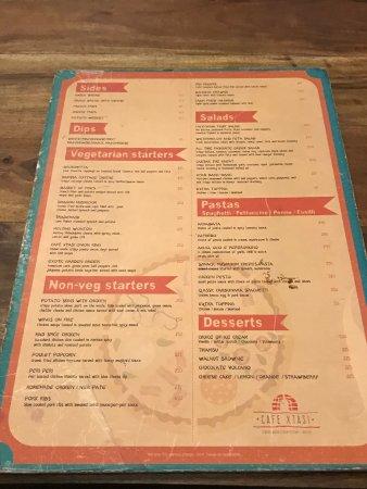 Cafe Xtasi Menu Card