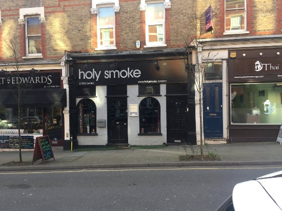 Holy Smoke: Exterior front of restaurant