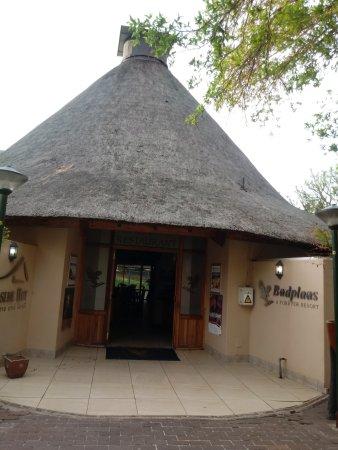 Badplaas, Afrika Selatan: Entrance to the restaurant