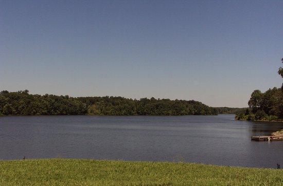 Pinckneyville City Lake looking west