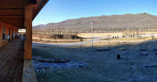 Circleville, WV: View from the lodge's porch