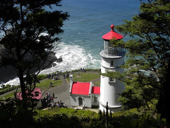 Florence, OR: Heceta Head Lighthouse from hiking trail.  Photo by Natalie Inouye