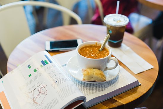 Edwards, CO: Cup of soup and coffee--Perfect for a study break!