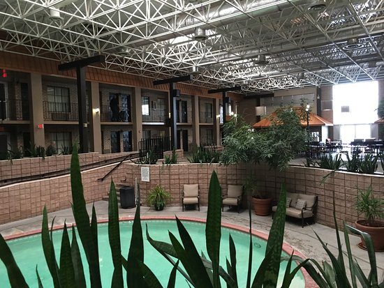 Alexandria, LA: Indoor pool atrium. Cool place