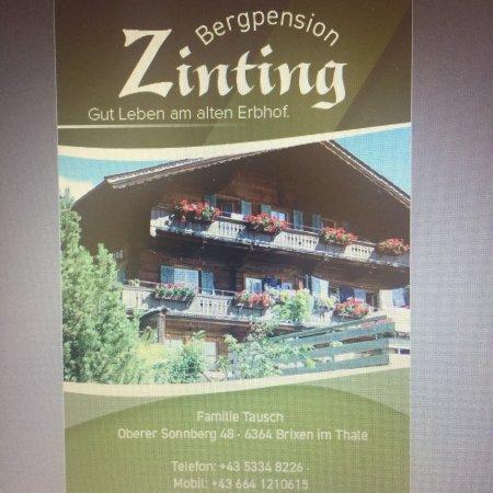 Brixen im Thale, Østrig: Bergpension Zinting