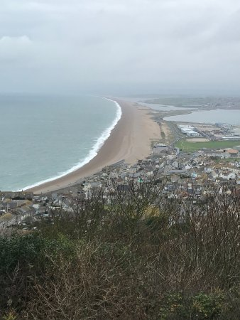 St. Johns Guest House: Nearby Chesil beach from Portland