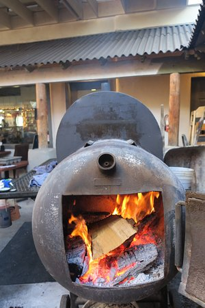 Cottonwood, AZ: We hand rub and smoke all our own meats on our patio!