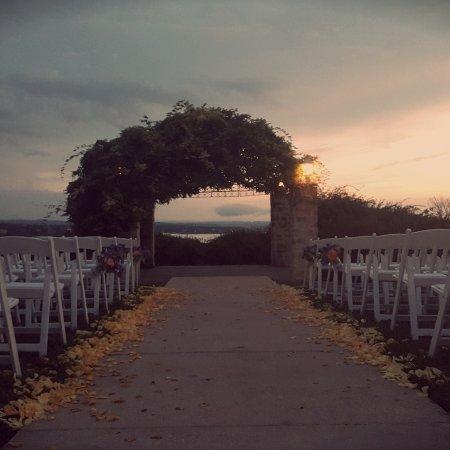 Vintage Villas Hotel Sunset Wedding Ceremony