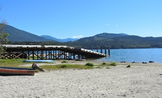 The Seymour Arm, Pier at Silver Beach Provincial Park at Seymour Arm on Shuswap Lake BC