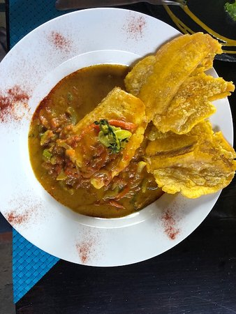 San Rafael de Escazu, Costa Rica: the fish curry dish