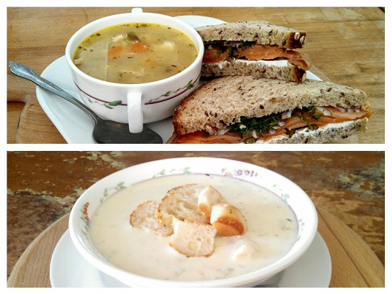 the brown Jug : Fresh soups and sandwiches everyday