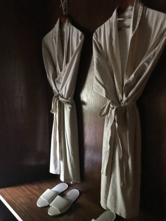 Ngala Private Game Reserve, South Africa: Bath robes inside tent