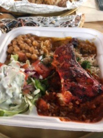 Hyattsville, MD: Tandoori chicken kabob plate
