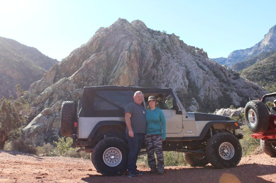 Las Vegas Rock Crawlers: Us and the Jeep we had for the day