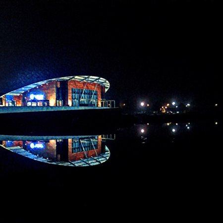 Stezyca, โปแลนด์: Wyspa Wisła at night