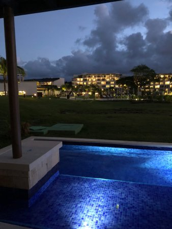 Cap Estate, St. Lucia: Resort from room at night