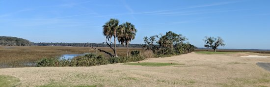 Kingsland, GA: Beautiful marsh views at Laurel Island Links. This is the 3rd hole.