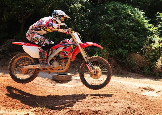 Chalong, Thailand: Training motocross in Phuket, Thailand