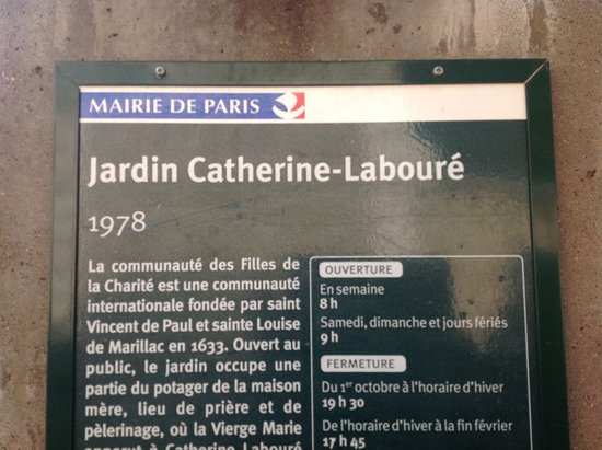 Jardin catherine labour pa francie recenze for Jardin catherine laboure