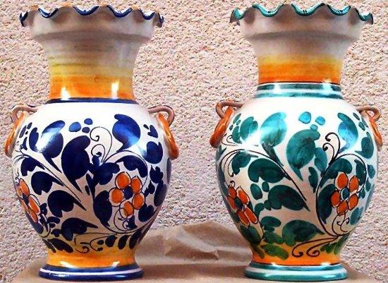 Vasi porta fiori ceramiche artistiche liborio palmeri maiolica di