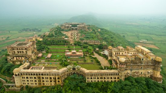 Ariel view of Tijara Fort-Palace