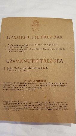 Demanovska Dolina, Slovacchia: návod na sejf