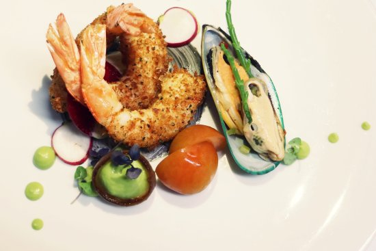 Quintinha Sao Joao: Prawns, duo of homemade mayonnaise, pickled mussels