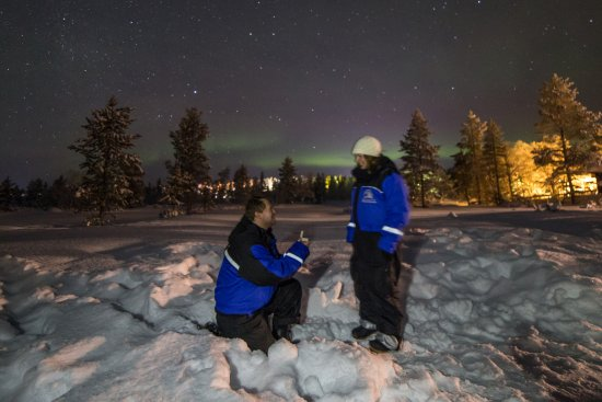 783e031dbeca Proposal under the northern lights. - Picture of Wilderness Hotel ...