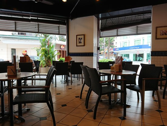 Oldtown White Coffee: The open section out front