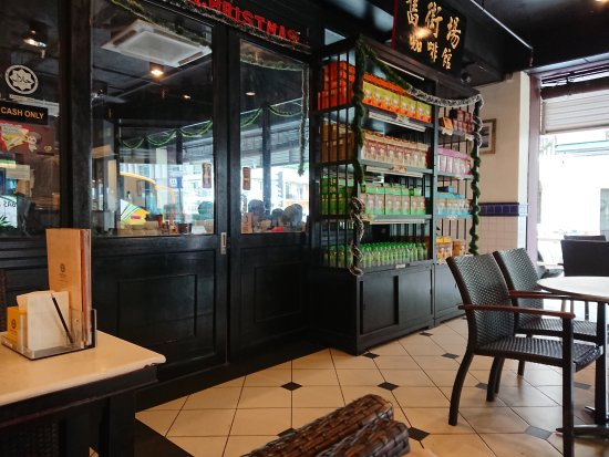 Oldtown White Coffee: Looking from the open area out front into the air-conditioned inside area