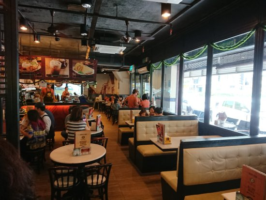 Oldtown White Coffee: The air-conditioned inside area
